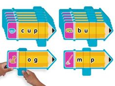 What's the Sound? Word Sliders $19.99 Our easy-to-use sliders help children explore simple 3-letter words! Each slider features a CVC word and a corresponding illustration. Children simply slide the panel to cover one letter of the word—then identify the missing letter as they say the word sound by sound!