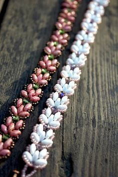 TUTORIAL  Lotus Chain beaded bracelet with Super by MadeByOlga.
