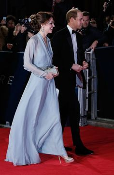 October 26th 2015, the Duke and Duchess of Cambridge arrive for the world premiere of the new James Bond movie, 'Spectre' at the Royal Albert Hall in London.