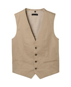 MEN COTTON LINEN VEST