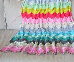 Granny chevron ripple blanket a week of crochet (For E?)