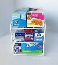 Efficient Food wrap storage and organization