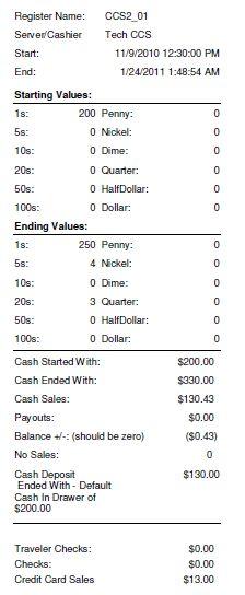 cash register till balance shift sheet in out template