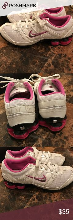 Women Nike shox size 8.5 Women Nike shox size 8.5. Good used condition Nike Shoes Sneakers