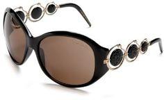 Roberto Cavalli Women's RC440SW Metal And Resin Sunglasses,Black Frame/Brown Lens,one size Roberto Cavalli. $450.00