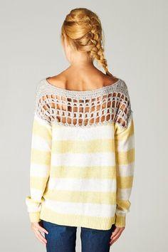 Gracie Crochet Pullover. #hairbraid #braid #trenza #hairstyle #tocado #peinado #pelo #hair #pullover #sweter #crochet #ropa #fashion #mode #moda #estilo