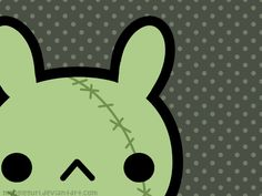 Zombie Bunny Wallpaper by *MoogleGurl on deviantART