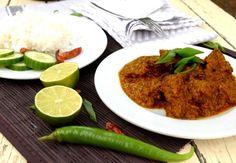 Rendang sapi aneb slavnostní indonéské hovězí kari s kokosem Grains, Rice, Meat, Chicken, Ethnic Recipes, Food, Essen, Meals, Seeds