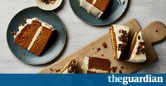 Pumpkin cake with ginger icing