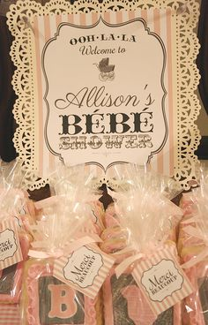 Celebrating the Moments: Welcome Bebe! Vintage Parisian Baby Shower