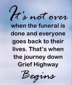 Missing Quotes : There is no time limit on grief
