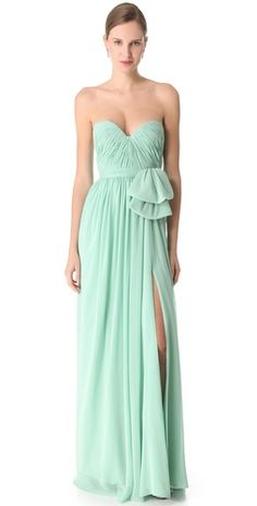 Reem Acra mint gown!