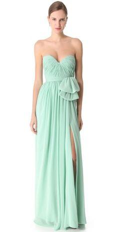 Reem Acra aqua gown!