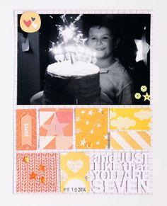 Emma KW - gorgeous birthday layout