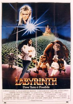 An Italian poster for the theatrical release of the Labyrinth