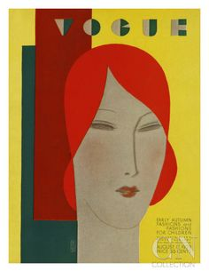 Vogue Cover - August 1929 Poster Print by Eduardo Garcia Benito at the Condé Nast Collection