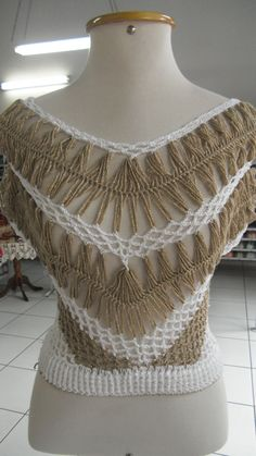 Blusa crochê de grampo