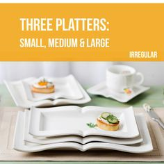 Set of Three Platters