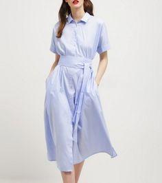 van Laack KAITH Sukienka koszulowa hellblau