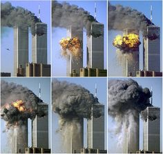 A series of photos shows hijacked United Airlines Flight 175 as it strikes the south tower of the World Trade Center at 9:03 a.m. on Sept. 11, 2001, and then explodes. A giant hole in the north tower shows where it was hit by American Airlines Flight 11, 43 minutes earlier. A total of 2,753 people died in the al-Qaida-sponsored terrorist attack on the World Trade Center.
