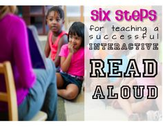 Interactive Read Aloud in Six Easy Steps... Great free guide with connections to Common Core Standards.