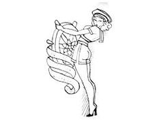 vintage pin up girl drawing google search - Pin Up Girl Coloring Pages