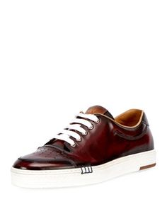 1a15fd47176 Berluti Mens Calf Leather Tennis Shoe