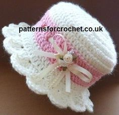 Free baby crochet pattern brimmed baby hat usa