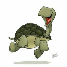 We generally associate things that are slow with sadness, depression, or stupidity, but what about turtles? Happy Turtle, Turtle Love, Tortoise Turtle, Illustration, Tortoises, Character Design References, Steve Jobs, Character Drawing, Creature Design