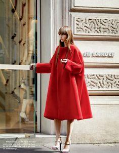 Jil Sander Red Coat.