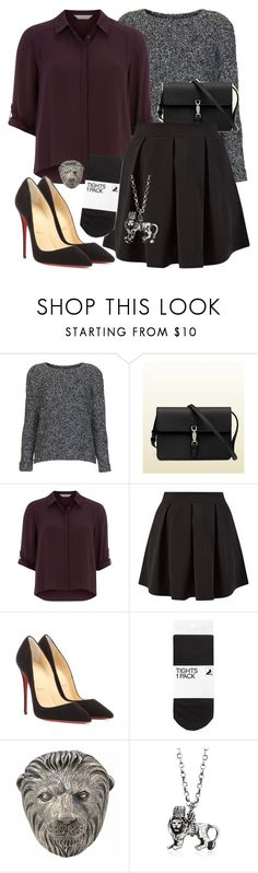 """""""Jemma Simmons Insp. University Interview Outfit"""" by lauloxx ❤ liked on Polyvore featuring Topshop, Gucci, Dorothy Perkins, Cameo Rose, Christian Louboutin, H&M, Theo Fennell, momocreatura, Fall and professional"""