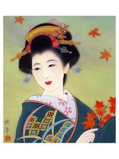Japanese geisha art.