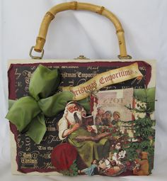 Christmas purse with pull-out book.