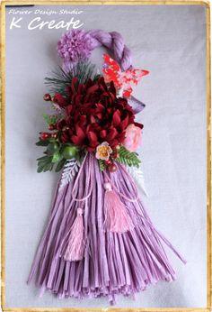 sold-out---Thank You!今年のお正月は、個性的なアートフラワーの「お正月飾り」で 新年をお迎えしてみてはどうでしょうか? 大輪のバーガンディ...|ハンドメイド、手作り、手仕事品の通販・販売・購入ならCreema。 Grapevine Wreath, Grape Vines, Creema, Tassels, Christmas Wreaths, Holiday Decor, Handmade, Home Decor, Hand Made