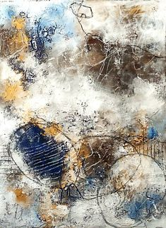 Some dreams - abstract painting on paper... Welcome to my blog!  Today I would like to share withyou my latest abstract painting on acryl paper in the size of 24x32 cm... ...