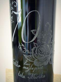 Ručne gravírovaná výročná fľaša