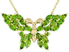 Stratify(Tm) 2.72ctw Russian Chrome Diopside 18k Yg Over Sterling Silver Pendant, Chain Eav $200.00