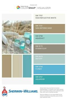 Cool beach inspired colors for a seaside cottage. Cool beach inspired colors for a seaside cottage. Seaside Cottage Decor, Beach Cottage Exterior, Beach Cottage Style, Beach House Decor, Coastal Style, Coastal Decor, Beach Cottage Kitchens, Cottage Rugs, Beach House Tour