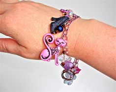 Kawaii cute charm bracelet with acrylic by sparklecityjewelry, $25.00