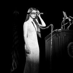 National Anthem music video byLana del rey. Singing to the president ( Portraying Marilyn Monroe)