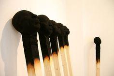 Wolfgang Stiller  Berlin, Germany. Matchstick men Timber, foam and acrylic paint
