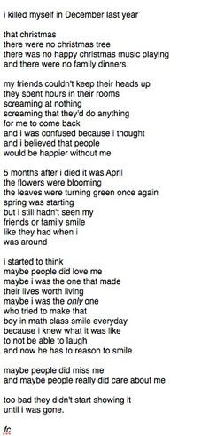 Suicide poem