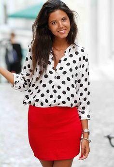 Zara  Camisas / Blusas and Bershka  Faldas