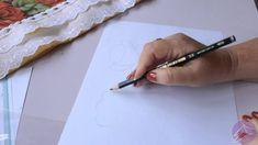 Pintura em tecido Eliane Nascimento: Como eu desenho a Rosa