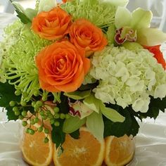 Centerpiece pinterest centerpieces colorful centerpieces and limes orange reception wedding flowers wedding decor wedding flower centerpiece wedding flower arrangement add pic source on comment and we will update it mightylinksfo