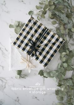 C&C: DIY fabric envelope gift wrapping + storage bonus (perfect for framed art and pictures)