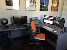 Got my office at home all set up. Thanks to @steelcase for sponsoring my setup with this Gesture chair. - Gavin Free (2/9/16)