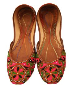 Look at this Fuchsia Shoes Pink Embroidered Ivy Flat on #zulily today!