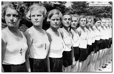 Women from the Nazi women league the BDM in happier days before the country lost the war. One winces when one tries to imagine what happened to them in 1945.
