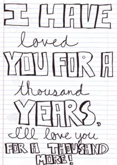 a thousand years - christina perri. Ashleigh drew Abbie a giant cross that looks like David's tattoo and she wrote these lyrics around it Song Lyric Quotes, Love Songs Lyrics, All Songs, Music Lyrics, Music Music, A Thousand Years, 1000 Years, What Is Love, Love You